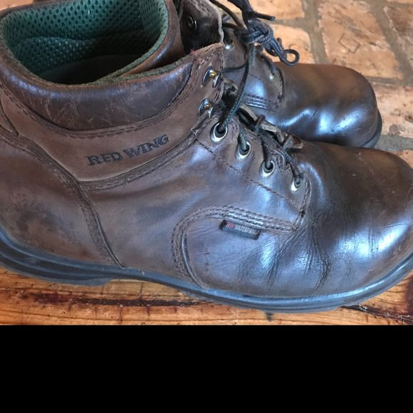 Red Wing Steel Toe Lace Up Work Boots